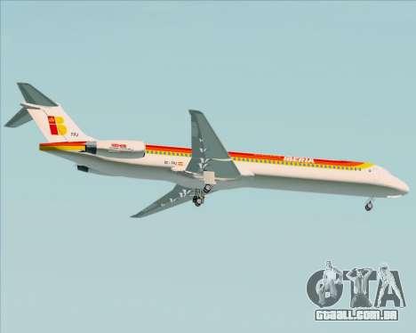 McDonnell Douglas MD-82 Iberia para GTA San Andreas vista direita