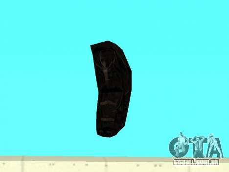 Mochila preta de Stalker para GTA San Andreas por diante tela