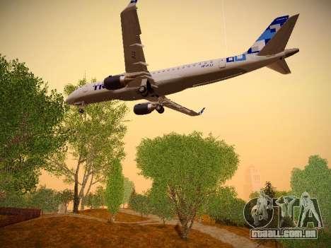 Embraer E190 TRIP Linhas Aereas Brasileira para GTA San Andreas vista inferior