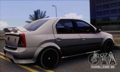 Dacia Logan Hoonigan Edition para GTA San Andreas esquerda vista