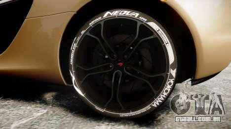 McLaren 650S Spider 2014 [EPM] Yokohama ADVAN v2 para GTA 4 vista de volta