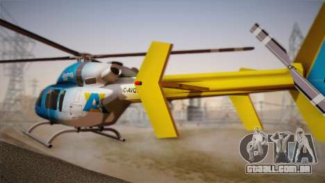 Bell 429 v2 para GTA San Andreas esquerda vista
