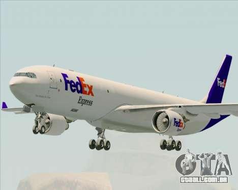 Airbus A330-300P2F Federal Express para GTA San Andreas