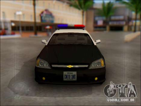 Chevrolet Evanda Police para GTA San Andreas vista superior