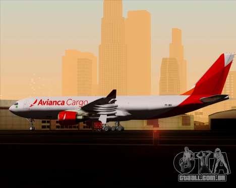 Airbus A330-243F Avianca Cargo para GTA San Andreas interior