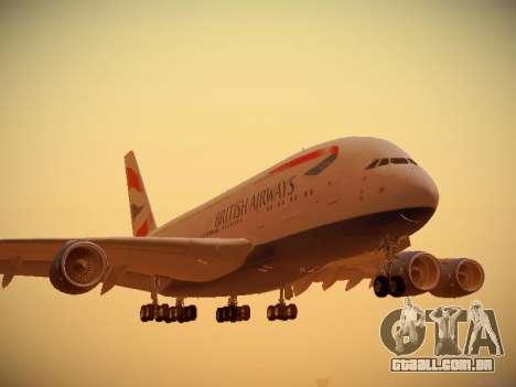 Airbus A380-800 British Airways para GTA San Andreas esquerda vista