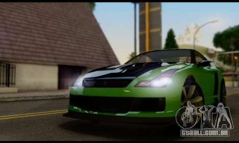 GTA V Elegy RH8 Twin-Turbo (IVF) para GTA San Andreas traseira esquerda vista
