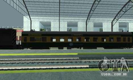 Garib Rath Express para GTA San Andreas esquerda vista