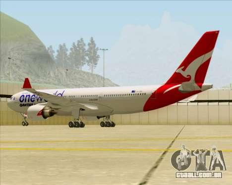 Airbus A330-200 Qantas Oneworld Livery para GTA San Andreas interior