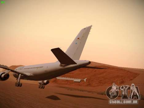 Airbus A310 MRTT Luftwaffe (German Air Force) para GTA San Andreas vista inferior