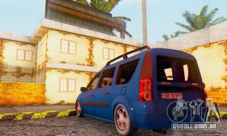 Dacia Logan MCV para GTA San Andreas vista direita