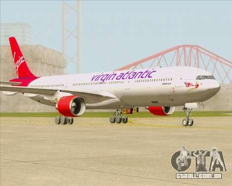 Airbus A330-300 Virgin Atlantic Airways para GTA San Andreas esquerda vista