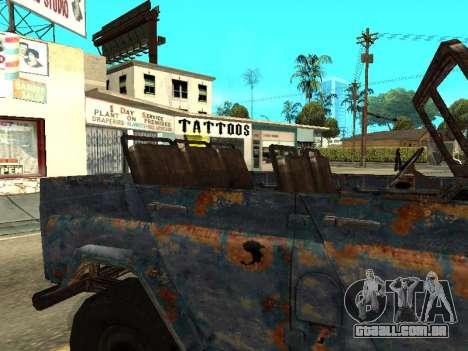 Polícia UAZ de Stalker para GTA San Andreas vista traseira