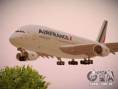 Airbus A380-800 Air France para GTA San Andreas vista superior