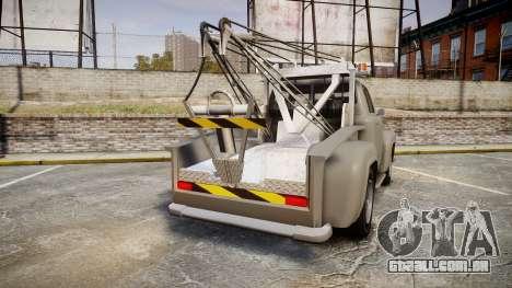 Vapid Tow Truck Jackrabbit para GTA 4 traseira esquerda vista