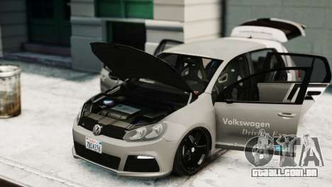 Volkswagen Golf R 2010 Driving Experience para GTA 4 vista direita