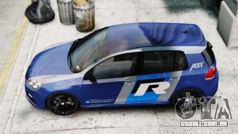 Volkswagen Golf R 2010 ABT Paintjob para GTA 4 traseira esquerda vista