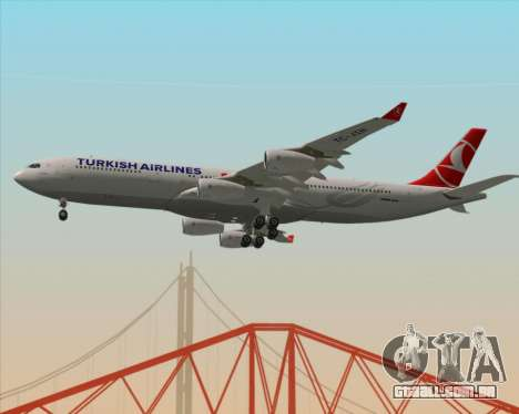 Airbus A340-313 Turkish Airlines para GTA San Andreas vista interior