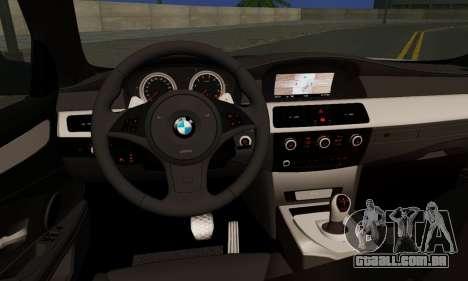 BMW M5 E60 Stance Works para GTA San Andreas traseira esquerda vista