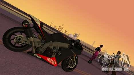 Aprilia RSV4 2009 Edition I para GTA Vice City deixou vista
