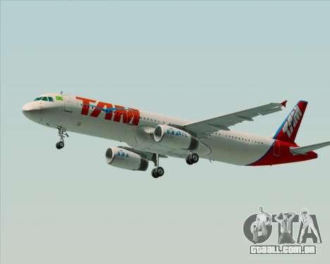 Airbus A321-200 TAM Airlines para GTA San Andreas vista traseira