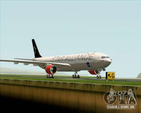 Airbus A330-300 SAS (Star Alliance Livery) para GTA San Andreas traseira esquerda vista
