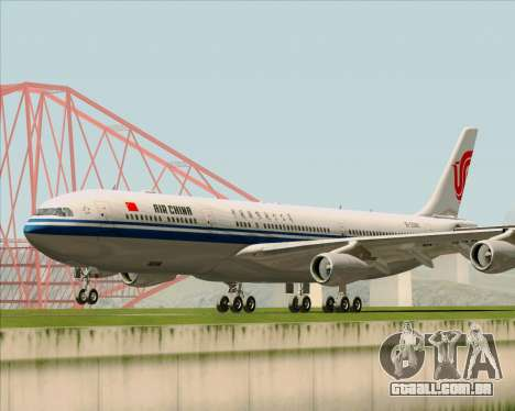 Airbus A340-313 Air China para GTA San Andreas esquerda vista