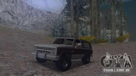 Chevrolet Blazer K5 para GTA San Andreas traseira esquerda vista
