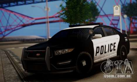 Vapid Police Interceptor from GTA V para GTA San Andreas esquerda vista