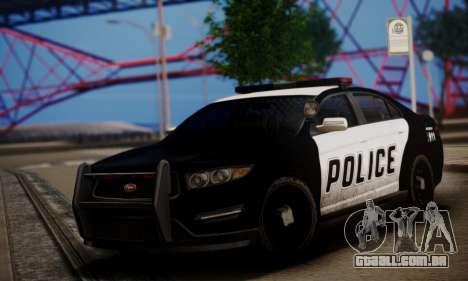 Vapid Police Interceptor from GTA V para GTA San Andreas esquerda vista