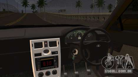 Lada 2170 Priora Hennessey Performance para GTA San Andreas traseira esquerda vista
