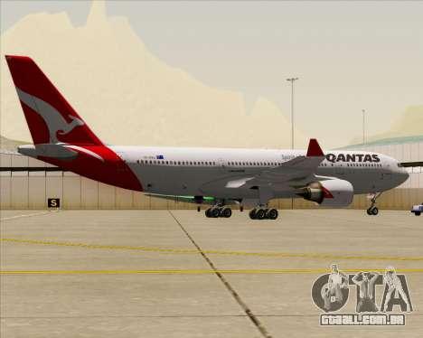 Airbus A330-200 Qantas para GTA San Andreas vista traseira