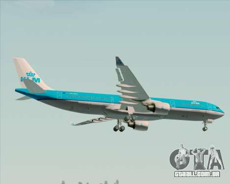 Airbus A330-300 KLM Royal Dutch Airlines para as rodas de GTA San Andreas