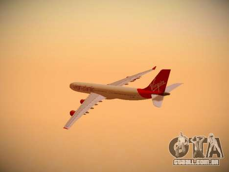 Airbus A340-300 Virgin Atlantic para vista lateral GTA San Andreas