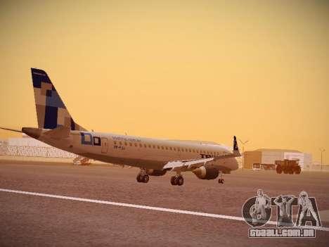 Embraer E190 TRIP Linhas Aereas Brasileira para GTA San Andreas vista direita