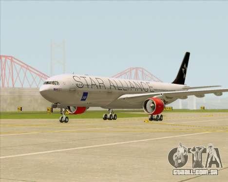Airbus A330-300 SAS (Star Alliance Livery) para GTA San Andreas esquerda vista
