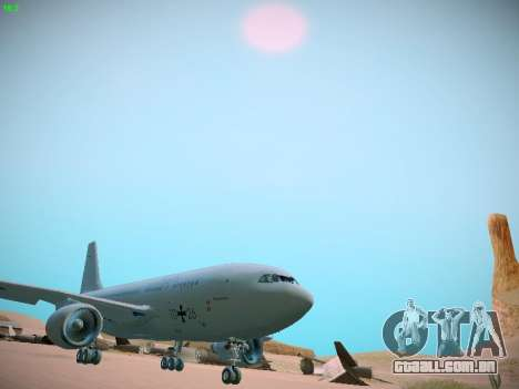 Airbus A310 MRTT Luftwaffe (German Air Force) para GTA San Andreas esquerda vista