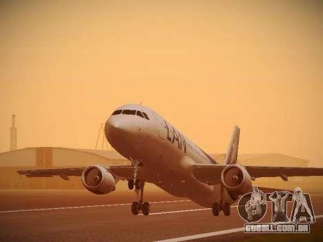 Airbus A320-214 LAN Airlines 100th Plane para GTA San Andreas vista traseira