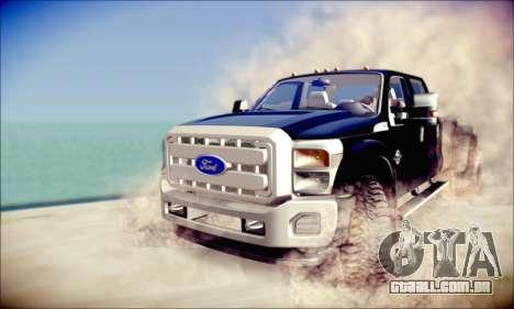 Ford F450 Super Duty 2013 HD para GTA San Andreas esquerda vista
