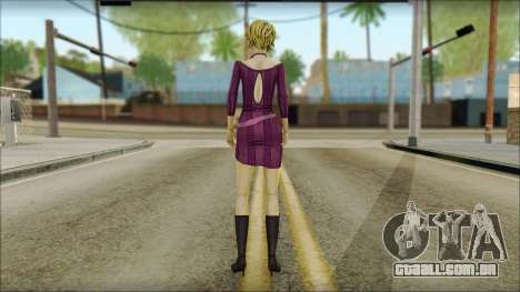 Vivian from Wolf Among Us para GTA San Andreas segunda tela