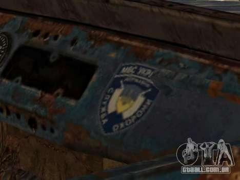 Polícia UAZ de Stalker para GTA San Andreas vista direita