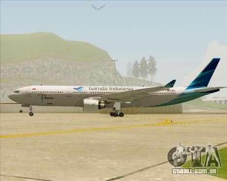 Airbus A330-300 Garuda Indonesia para GTA San Andreas vista interior