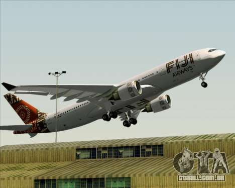 Airbus A330-200 Fiji Airways para GTA San Andreas vista inferior