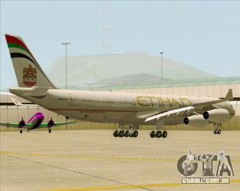 Airbus A340-313 Etihad Airways para GTA San Andreas vista traseira