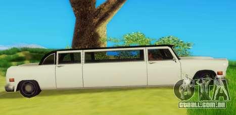 Cabbie Limousine para GTA San Andreas traseira esquerda vista