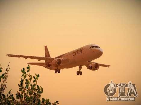 Airbus A320-214 LAN Airlines 100th Plane para GTA San Andreas vista inferior