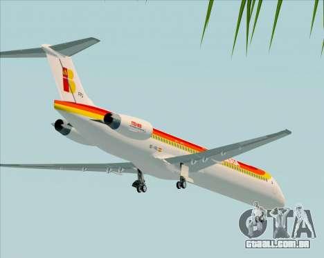 McDonnell Douglas MD-82 Iberia para GTA San Andreas vista superior