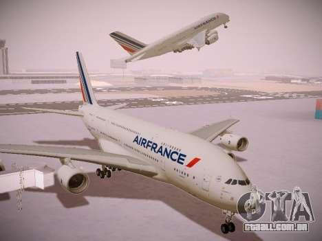 Airbus A380-800 Air France para GTA San Andreas vista interior