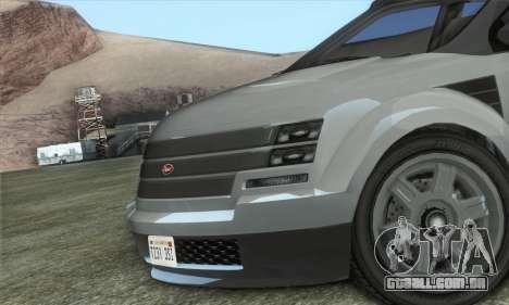 Vapid Radius 1.0 (HQLM) para GTA San Andreas traseira esquerda vista