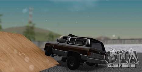 Chevrolet Blazer K5 para GTA San Andreas esquerda vista